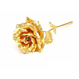 24k Gold Plated Rose. 999 Gold Rose,new Valentine&#039;s Day Gifts(jmg002) Picture