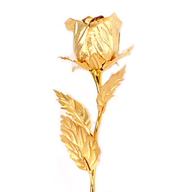 24k Gold Plated Rose. 999 Gold Rose,new Valentine&#039;s Day Gifts(jmg001) Picture