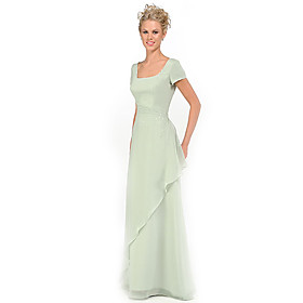 Princess Square Floor-length  Mother of the Bride Dress (HSX795) :  price click mother of the bride wedding dresses