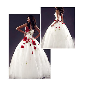 Ball Gown Sweetheart Floor length Organza Wedding Dresses for Bride 2009 Style WGY0068 from wholesale-shopping.com