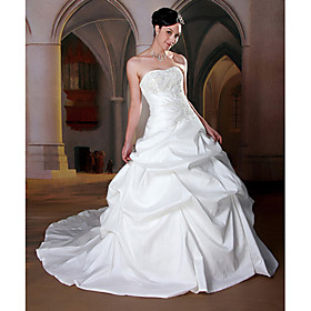 Luxury Ball Gown Sweetheart Chapel Train Taffeta Wedding Dresses for Bride KT1348 :  kt1348 luxury ball gown sweetheart chapel train taffeta wedding dresses for bride kt1348 wedding dresses ball gown