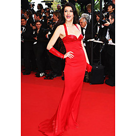 Trumpet / Mermaid Halter Brush Train Cannes Film Festival Dresses / Evening Dresses (FSH0138)