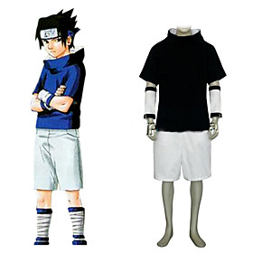 Naruto Sasuke Uchiha Men's Cosplay Costume Picture