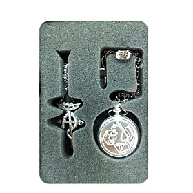 Fullmetal Alchemist Cosplay Accessories Pocket Watch And Ring And Necklace 3 Set(rs34651) Picture