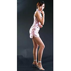Mandarin Collar Short / Mini Sleeveless Tapestry Satin Cheongsam / Qipao / Chinese Dress (HGQP226)
