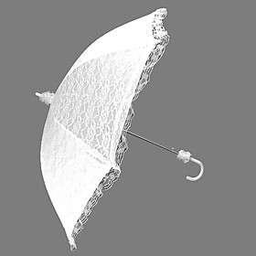 White Lace Auto Opening Wedding Umbrella (KTB004)