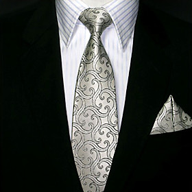 Corbata Gris Plata