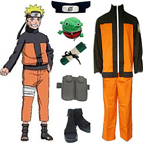 Naruto Shippuden Uzumaki Men's Cosplay Costume And Accessories Set Picture