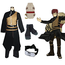 Naruto Shippuden Gaara Men's Cosplay Costume And Accessories Set Picture
