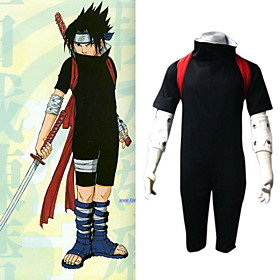 Naruto Shippuden Sasuke Men's Cosplay Costume Picture