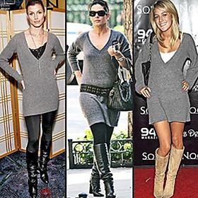 Deep V-neck Long sleeves Dresses Women's Sweater ( - US$ 18.46