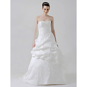 Ball Gown Sweetheart Chapel Train Taffeta Wedding Dresses for Bride HSX144