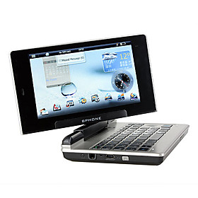 BPhone ARM Linux 2.6 Single Card Quad Band JAVA WIFI GPS 180 Degree Rotate 5.0 Inch Touch Screen Cell Phone Black (2GB TF Card and Leather Case)(SZ045