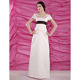 A-line Square Floor-length Satin Mother of the Bride Dress (MMWD032)