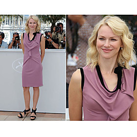 Naomi Watts Sheath/ Column Scoop Knee-length Sleeveless Stretch Fabric Cannes Film Festival/ Cocktail Dress (FSL0835)
