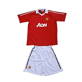 10-11 Manchester United Customized Home Soccer Jersey & Soccer Kit (GZZQ0904)