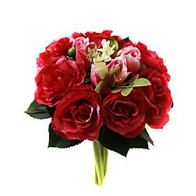 Ramo De Flores De Seda Roja