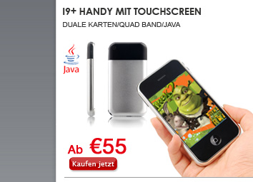 I9+ Handy mit Touchscreen