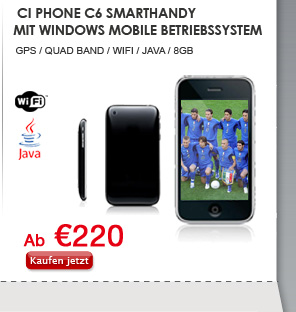 Ci Phone C6 Smarthandy mit Windows Mobile Betriebssystem