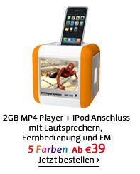 2GB MP4 Player + iPod Anschluss