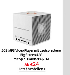2GB MP3 Video Player mit Lautsprechern