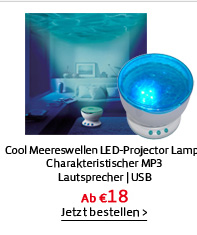 Cool Meereswellen LED-Projector Lampe