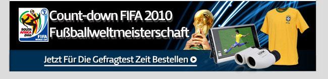 Count-down FIFA 2010 Fußballweltmeisterschaft