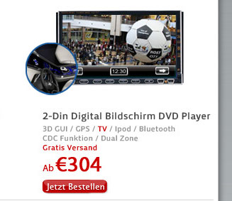 2-Din Digital Bildschirm DVD Player