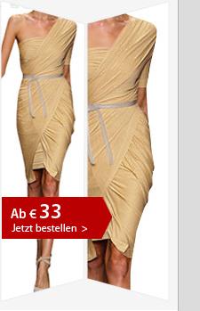 Nr. 3 1-Schulter Bleistift-Kleid