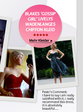 Blakes 'Gossip Girl' Livelys wadenlanges Chiffon Kleid