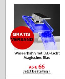 Wasserhahn mit LED-Licht