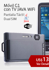 Móvil G1 con TV JAVA WiFi