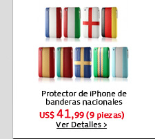 Protector de iPhone de banderas nacionales