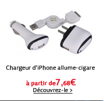 Chargeur d'iPhone allume-cigare
