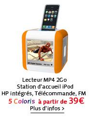Lecteur MP4 2Go / Station d'accueil iPod