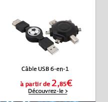 Câble USB 6-en-1