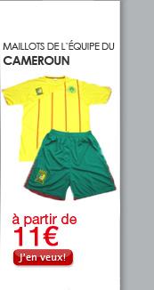 Maillots de l'équipe du Cameroun