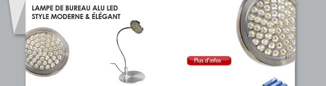 Lampe de bureau alu LED Style moderne & élégant