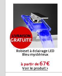 Robinet à éclairage LED