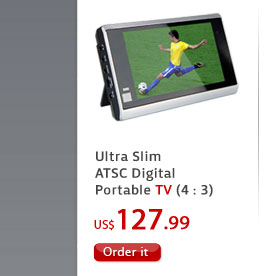 Ultra Slim ATSC Digital Portable TV (4 : 3)