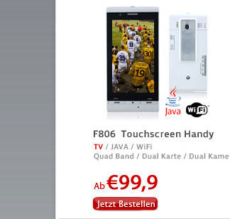 F806  Touchscreen Handy