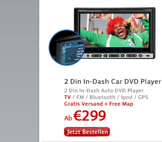 2 Din In-Dash Auto DVD Player