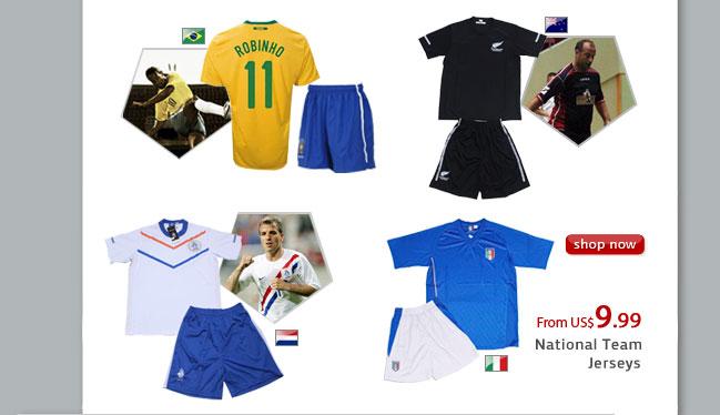 National Soccer Team Jersey