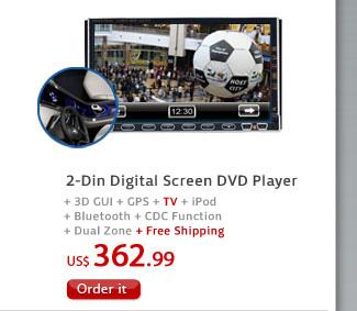 2-Din Digital Screen DVD Player