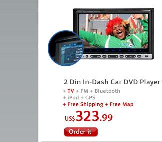 2 Din In-Dash Car DVD Player