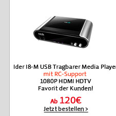 Ider I8-M 3.5 2.5SATA USB Tragbarer Media Player