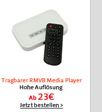 Tragbarer RMVB Media Player