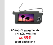 9 Auto Sonnenblende TFT LCD Monitor