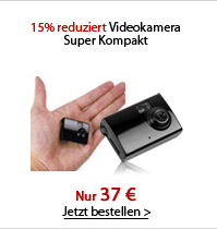 15% reduziert Videokamera