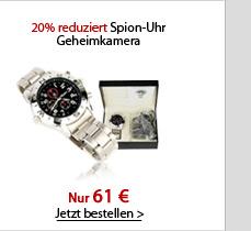 20% reduziert Spion-Uhr